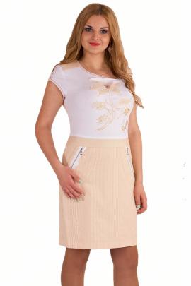 Платье Линия Л Б-1088 горчица