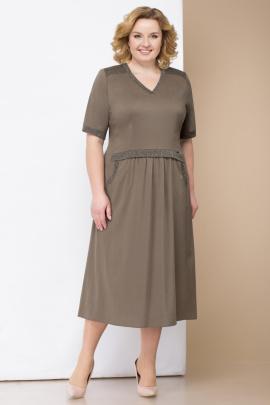 Платье Линия Л Б-1714 хаки