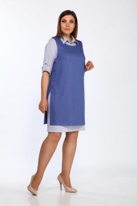 Туника, Платье Lady Style Classic 1300 синий