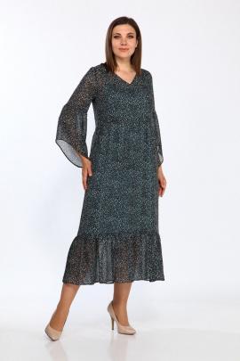 Туника, Платье Lady Style Classic 1802/2 черный-зеленый