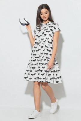 Платье Koketka i K 840-1 белый_очки