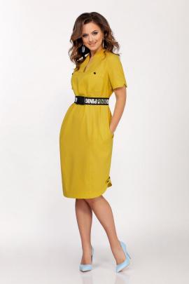 Платье Dilana VIP 1692 горчица