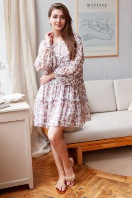 Платье KRASA 261-21 беж