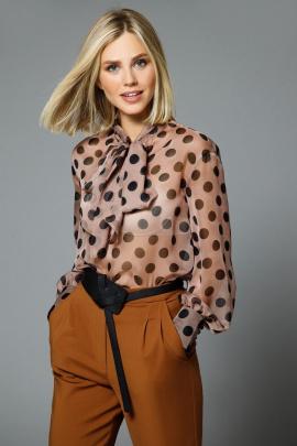 Блуза DiLiaFashion 0522 горохи