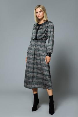 Платье DiLiaFashion 0529 зеленый_фон