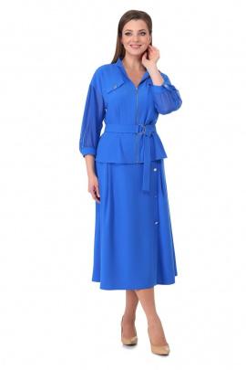 Женский костюм Мишель стиль 981 лазурный