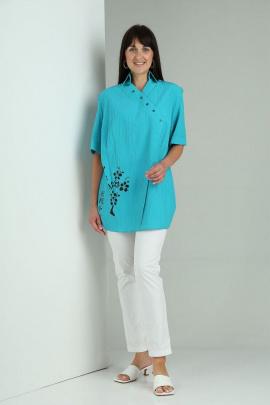Блуза VIA-Mod 481 бирюза