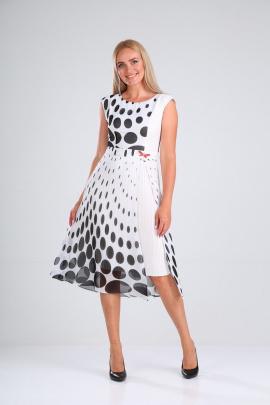 Платье SandyNa 13976 черно-белый