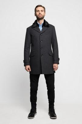 Пальто Gotti 026-14м темно-мерый-меланж