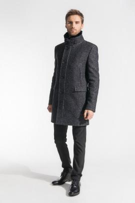 Пальто Gotti 059-1м серо-черный-твид
