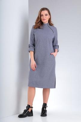 Платье Vilena 663 серо-голубой