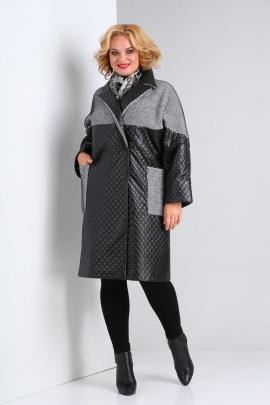 Пальто SOVITA M-2126 черный-серый