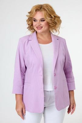 Жакет БелЭльСтиль 203 розовый_джинс-полоска