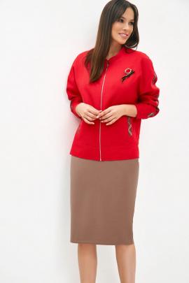 Женский костюм Магия моды 1957 красный+какао