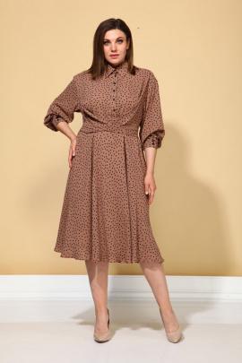 Платье ALEZA 1031 коричневый