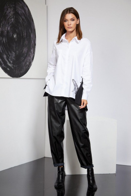 Рубашка Butеr 2219 белый-черный