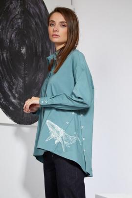 Рубашка Butеr 2219 аква