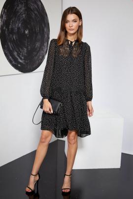 Платье Butеr 2263 черный_белые_точки