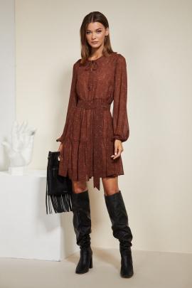 Платье Butеr 2272 коричневый_цветы