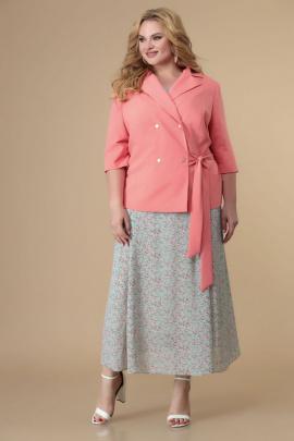Жакет, Платье Romanovich Style 3-2180 коралл,мята