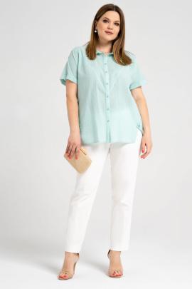 Блуза Панда 44140z мятный
