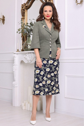 Женский костюм Мода Юрс 2618-1 зеленый