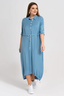 Платье Панда 27480z голубой