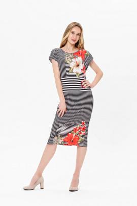 Платье BirizModa 21С0010 белый,коралловый