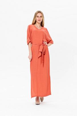 Платье BirizModa 21С0020 розовый,коралловый