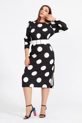 Платье Mubliz 586 черно-белый