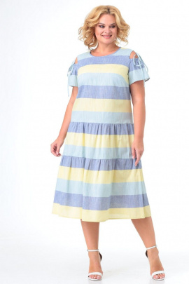 Платье Кэтисбел 1549 полоска_желтая