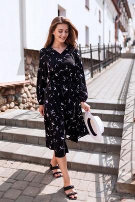 Платье KRASA 163-21 буслы_черные