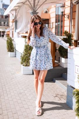 Платье KRASA 224-21 голубой