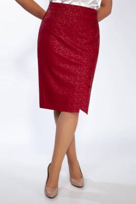 Юбка Klever 382 кожа-красный