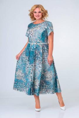Платье Swallow 384 камушки_бирюза