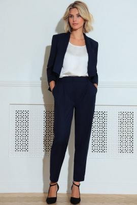 Женский костюм LeNata 32185 темно-синий