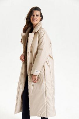 Пальто SODA 608 бежевый