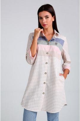 Рубашка Таир-Гранд 62403 бежевый