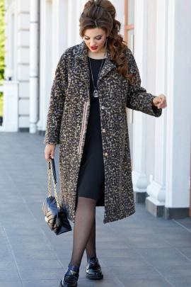Пальто Vittoria Queen 14363 леопард