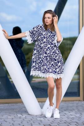 Платье JKY DA-013 синий