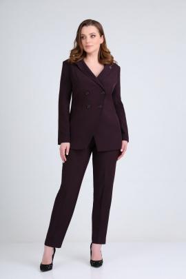 Женский костюм Ивелта плюс 2946 ежевика