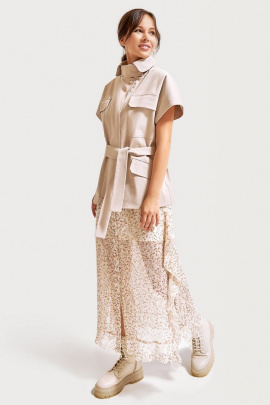 Платье, Жилет FOXY FOX 1293 бежевый