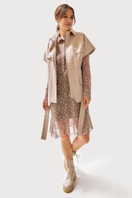 Платье, Жилет FOXY FOX 1294 бежевый