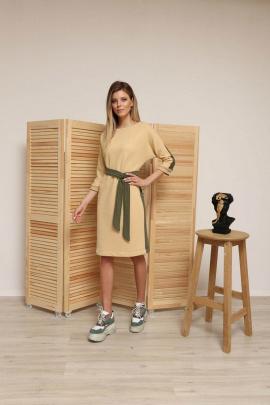 Платье Ambera 146 бежевый