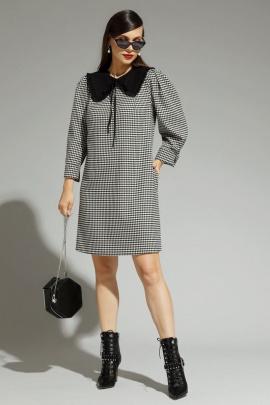 Платье Магия моды 1950 черный+серый