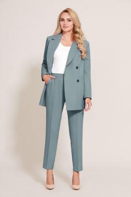 Женский костюм Mubliz 570 серый-зеленый