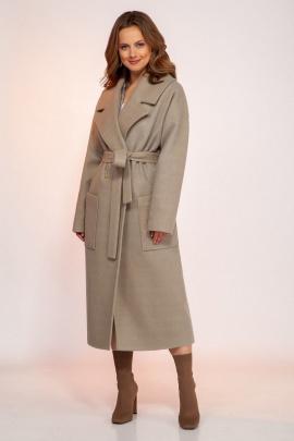 Пальто Dilana VIP 1766 олива