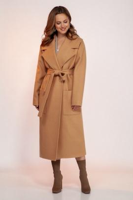 Пальто Dilana VIP 1766 песочный