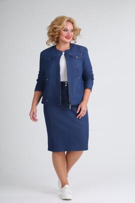 Женский костюм Ивелта плюс 2520 синий