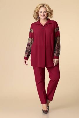 Брюки, Блуза Romanovich Style 2-2079 бордо